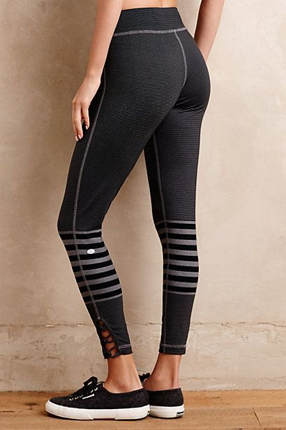 Love these leggings! Different than typical black Outfield Leggings #anthropologie