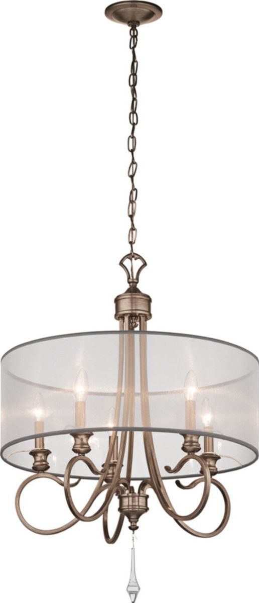 Kichler malina chandelier brushed silver and 43244brsg lampsusa · 5 light chandeliercontemporary