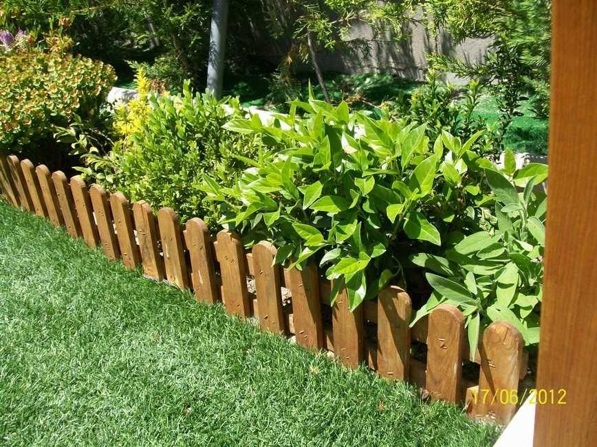 Cerco de madera hermoso mi jard n pinterest patios - Cercas para jardin ...