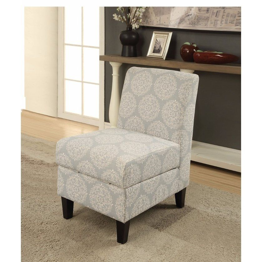 Ollano II Accent Chair with Storage, Pattern Fabric, Gray