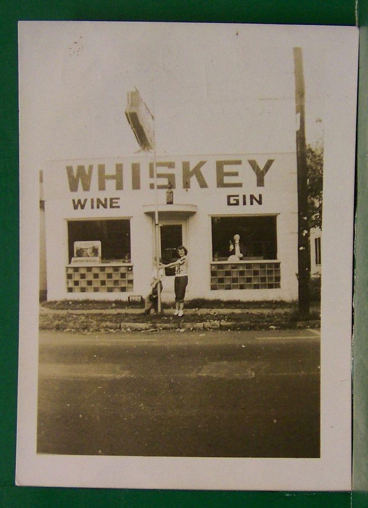 Vintage 1949 Bowling Green Kentucky Whiskey Wine Gin Store Advertising Photo Kentucky Gin Bowling Green Kentucky