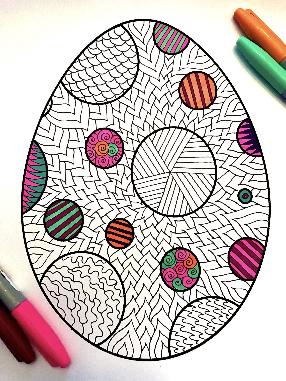 Polka Dot Easter Egg