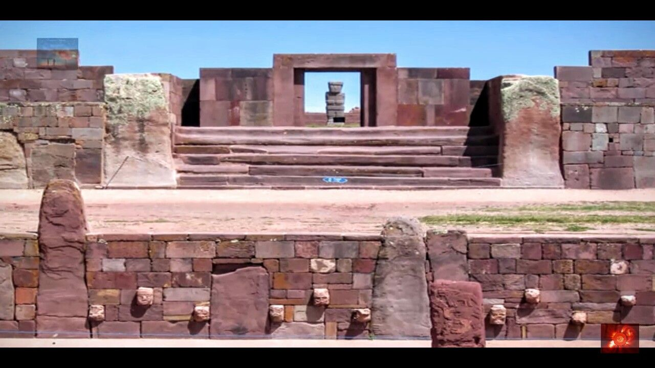 The Wall Of Humanity At The Ancient Site Of Puma Punku At