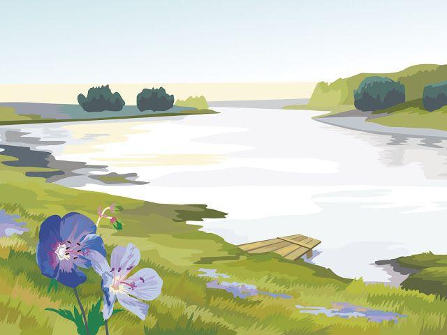 Gambar Pemandangan Kartun Gambar Pemandangan