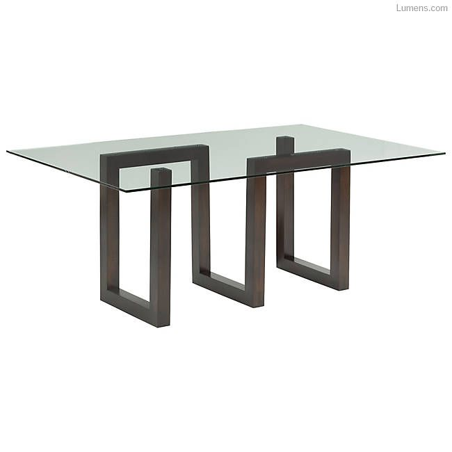 Serpent Dining Table Glass Top Dining Table Modern Dining Table
