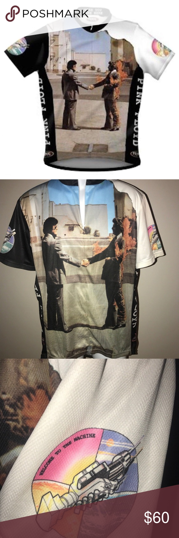 39f8fd709 Primal Wear Pink Floyd Wish You Were Here Cycling Primal Wear Pink Floyd  Wish You Were Here Cycling Jersey Men s XL NWT Primal Shirts