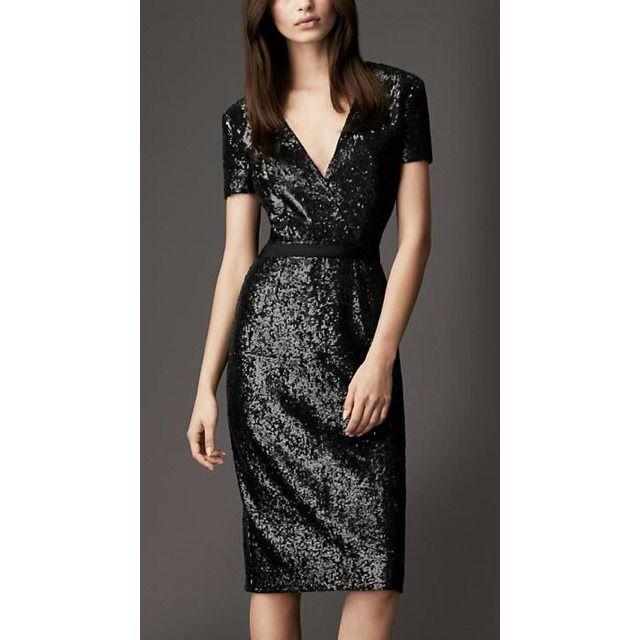 Burberry London Black Sequins Dress Size 6 Us 275 On Vaunte
