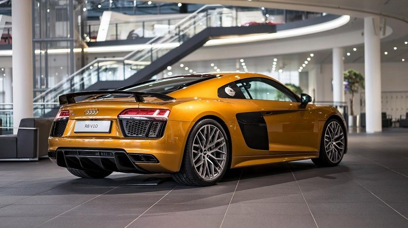 Orange Pearl Audi R8 V10 Plus Rear View Mycaridcom Juicy Stuff