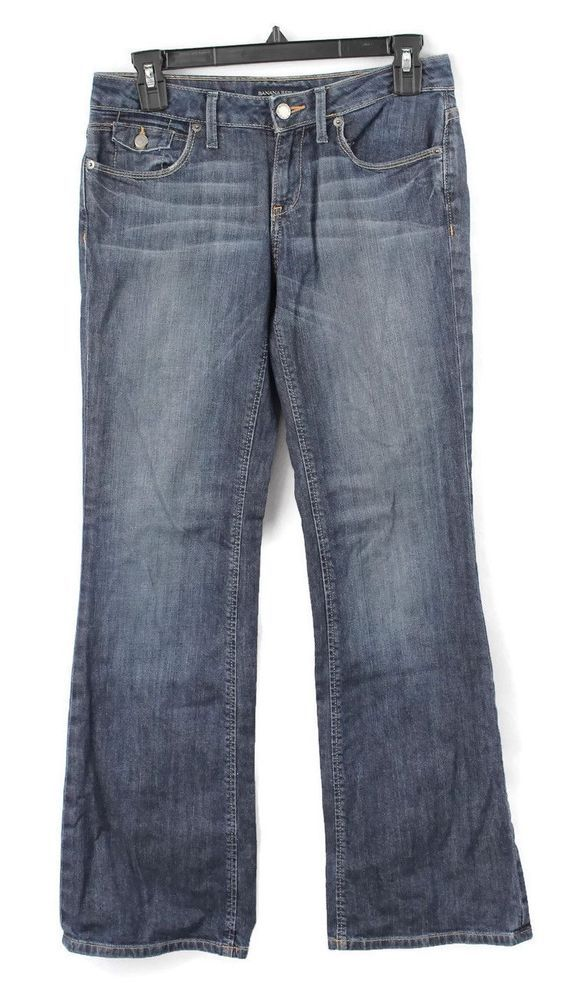 aff2f4746b Banana Republic Womens Denim Wash Straight Leg Pocket Jeans Sz 25/0 Blue EUC  #