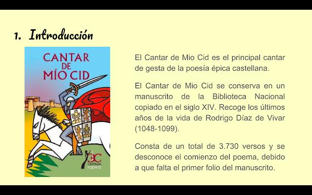 Poeliteraria Secuenciacion De Actividades El Cantar De Mio Cid Actividades Para Trabajar El Cantar De Mio Cid En Secundaria Actividades Secundaria Cantando