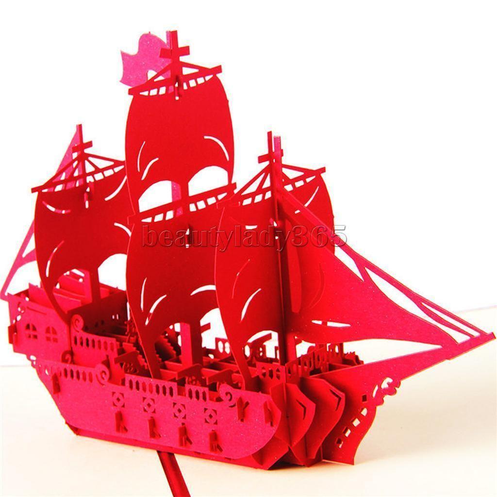 3D Pop Up Invitation Greeting Card Valentine Wedding Birthday ...