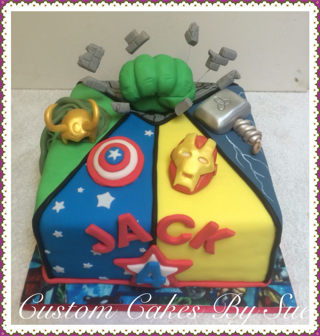 Avengers Cake Marvel Comics Hulk Captain America Thor