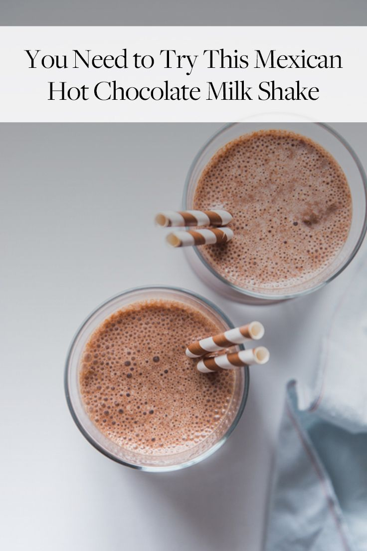 How to Make a Mexican Chocolate Milkshake | Chocolate milkshake ...