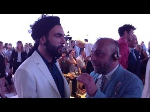 Marco Mengoni da Ferragamo: la prima volta col turbante - YouTube