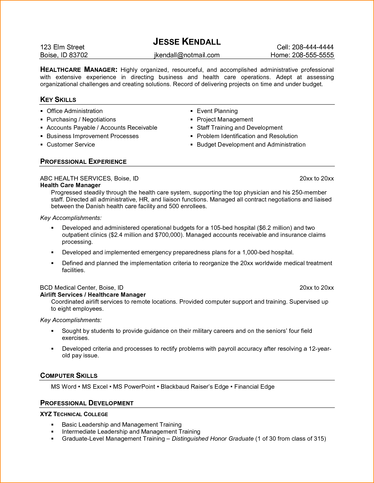 Resume Examples Medical Field Resume objective examples