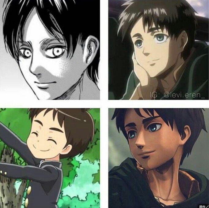 Eren Jaeger's Smile In Manga, Snk Anime, Attack On Junior