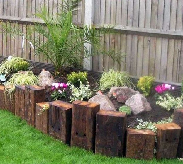 Use The Ends Of Railway Sleepers To Create Another Level In My Raised Beds(Diy  Garden Borders)