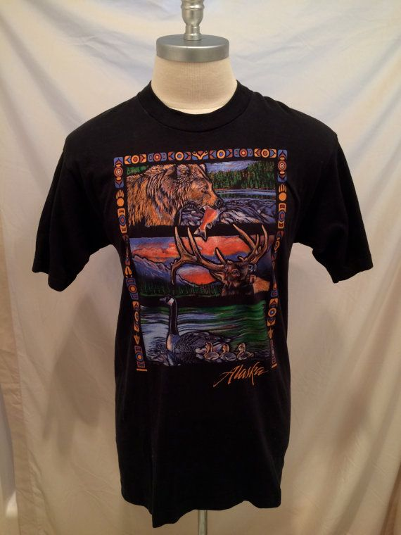 90s Alaska vintage tshirt Fruit of the Loom, Size L, Made in USA