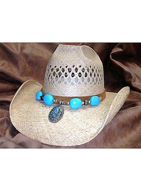 db514a429afc2 SHADY BRADY HATS Crushable Western Raffia Straw w Hanging Berber Band  1WW41-V Natural  cowboyhat women s hat