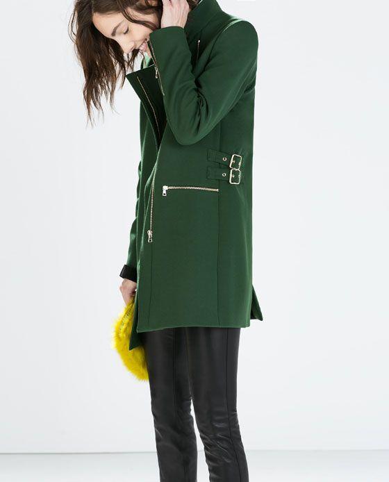 Zara green buckle jacket