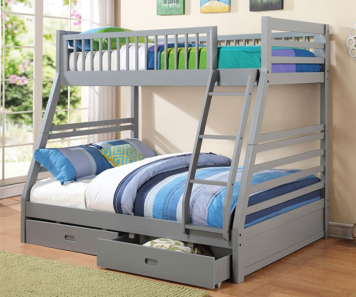 Buy our Coaster Furniture Twin Full Grey Bunk Beds with