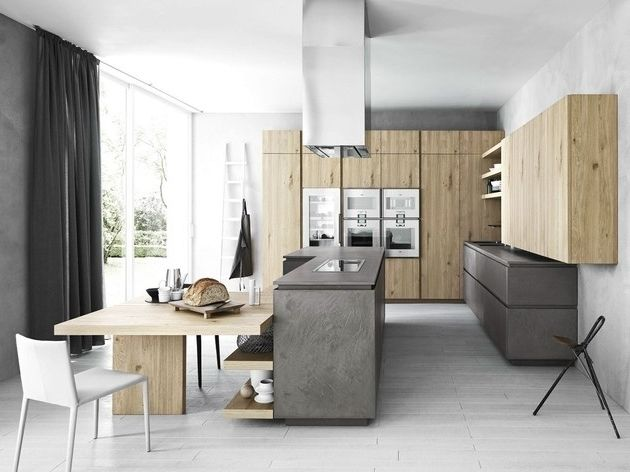 Küchen-metall-zement-gegensätze-stellen-holzjpg 630×472 pikseli - küchen von poco