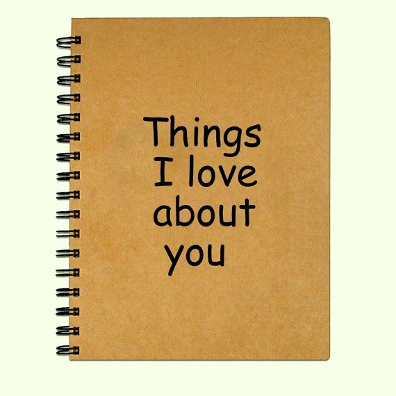 Blank Notebooks or Journal - Things I like about you - Diary - blank memo