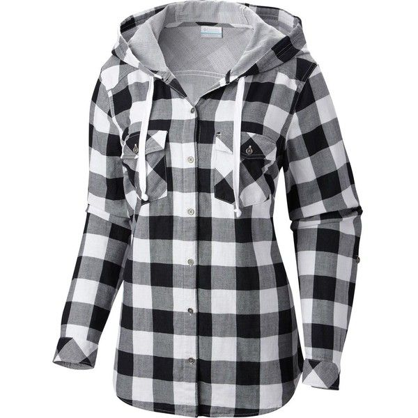 1e042740f0f2c3 Columbia Times Two Hooded Shirt - Long-Sleeve ($44) ❤ liked on Polyvore  featuring tops, hoodies, shirts, jackets, long sleeve button up shirts,  long sleeve ...