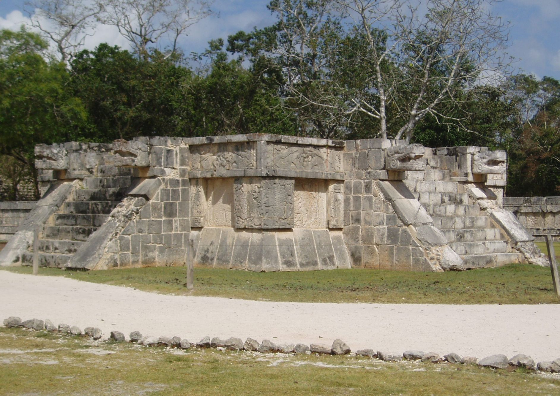 Many tourists visit Chichen Itza as a day trip, especially from Cancun