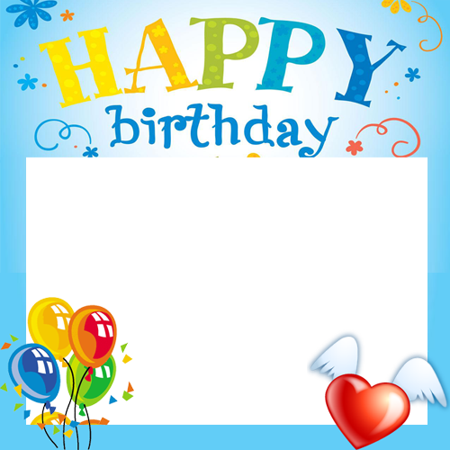 Create Happy Birthday Celebration Photo Frame With Your Name