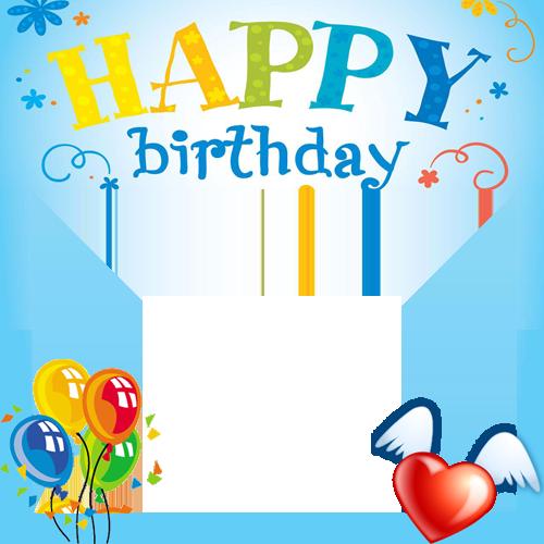 Create Happy Birthday Celebration Photo Frame With Your