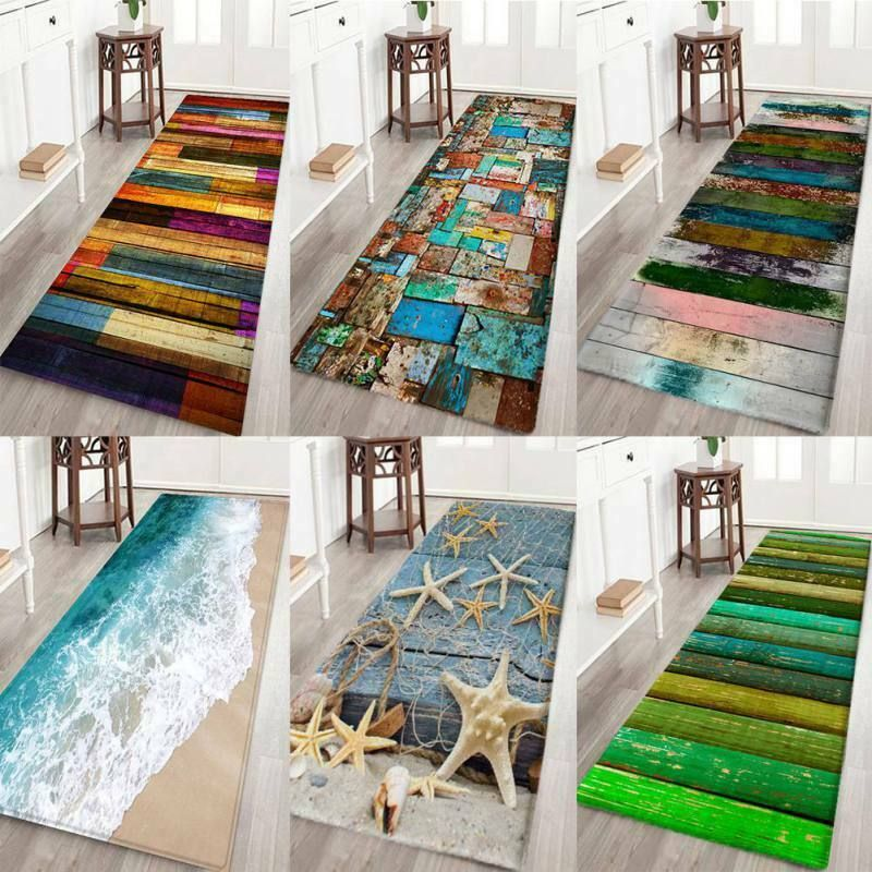 Details About 3d Print Thick Flannel Non Slip Kitchen Floor Mat Door Mat Bath Area Rug Carpet In 2020 Kitchen Mats Floor Rugs On Carpet Carpet Decor