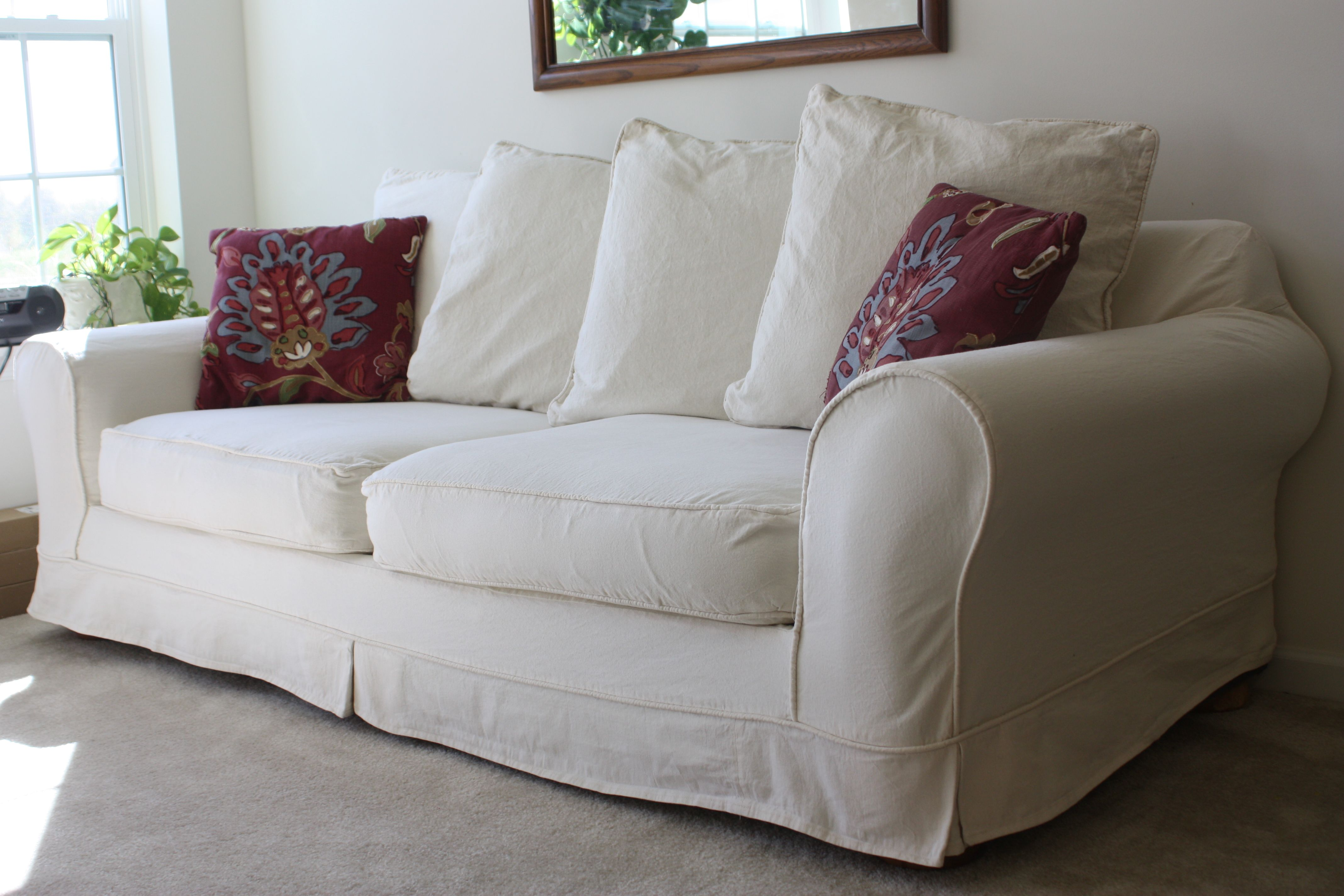 Whitered sofa for nice living room homesfeed pretty pillows on sofas
