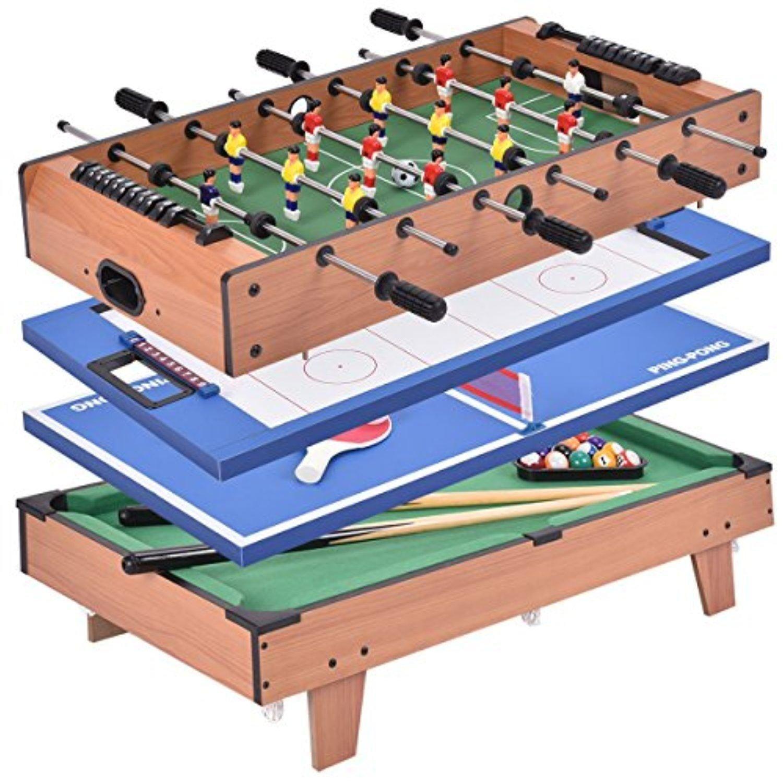 Giantex 4 In 1 Multi Game Table Pool Air Hockey Foosball Table