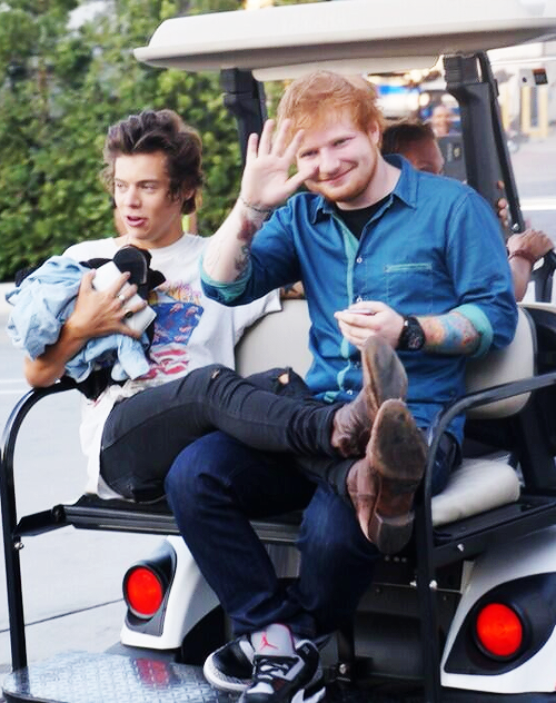Hes Hanging With His Friends Harry Styles Ed Sheeran One Direction