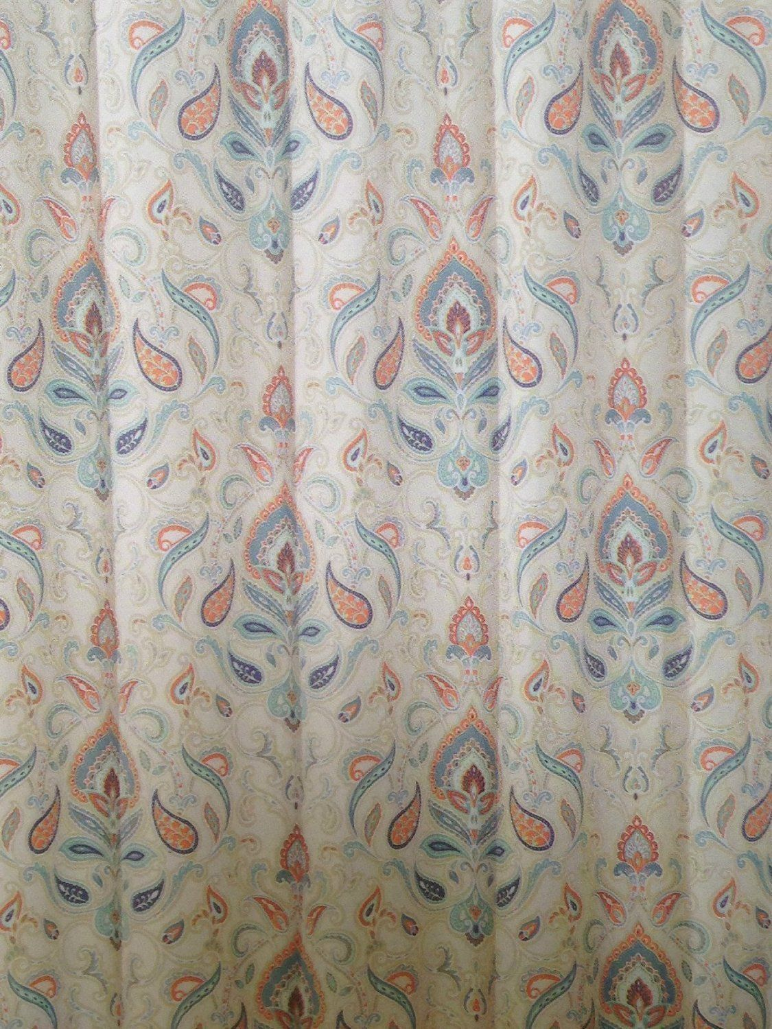 cynthia rowley mica last teal cynthiarowley fabric paisley green shower drapes grey pin moroccan curtain