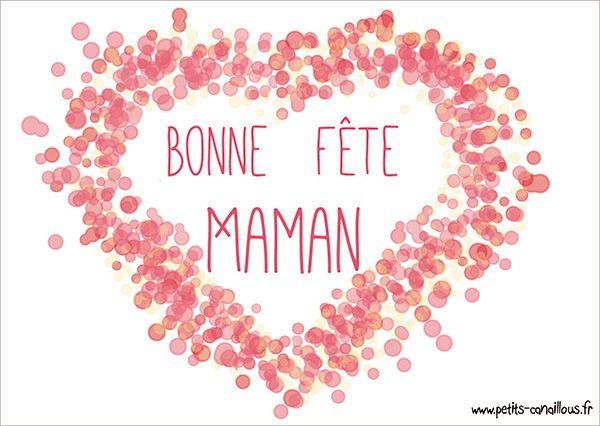 Jolie Carte Pour La Fête Des Mères Printable Carte Bonne Fete Maman Carte Fête Des Mères Carte De Fete