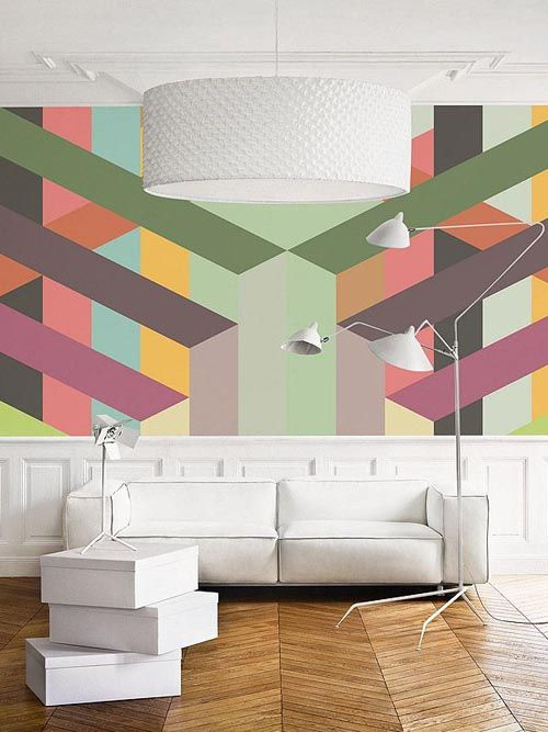 Los dise os geom tricos pueden ir m s all de las simples - Disenos para pintar paredes ...