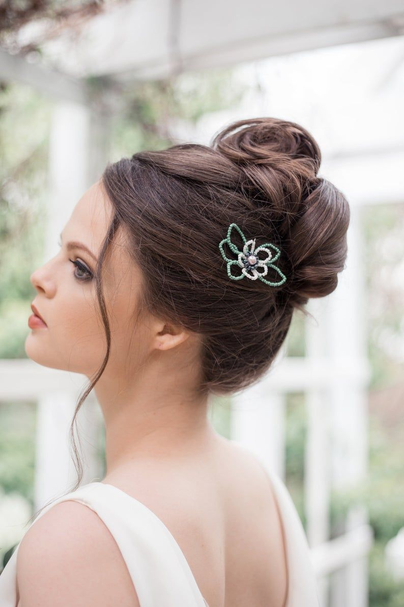 Flower Bobby Pins Prom Hair Accessory Wedding Bobby Pins Etsy Hair Scarf Styles Prom Hair Accessories Floral Hair Pins
