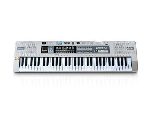 0166d69ebc0 Plixio 61 Key Mid Size Electronic Music Keyboard Electric Piano with Lesson  Mode   Adapter