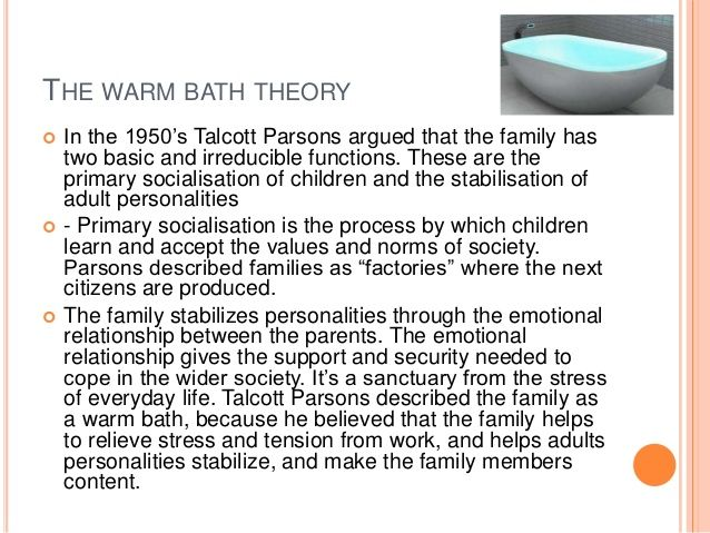 parsons theory on family