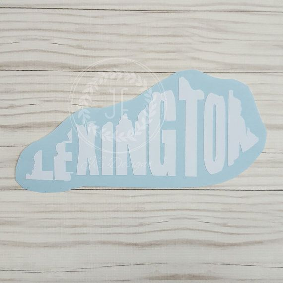 Lexington kentucky ky vinyl decal state city by jedesignshop