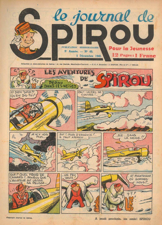 Le journal de Spirou N° 138 du 5 décembre 1940