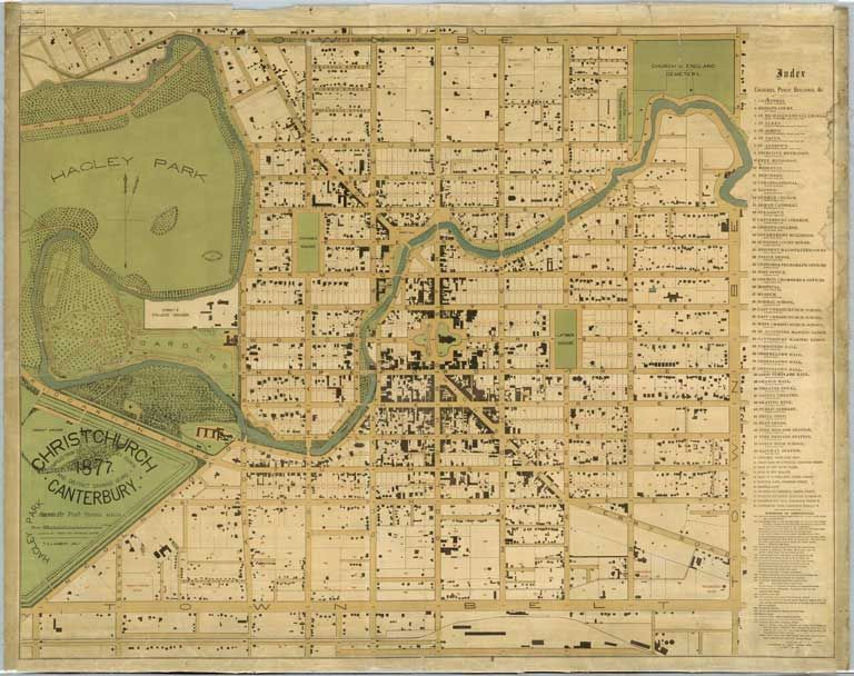 Christchurch Canterbury New Zealand compiled from data supplied to