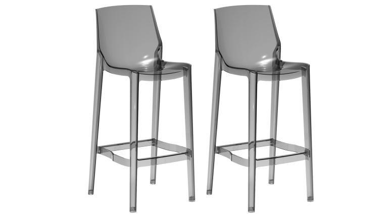 Lot De 2 Tabourets De Cuisine Plexi Design Assise 65 Cm Storc Tabouret De Bar Tabouret Cuisine Tabouret
