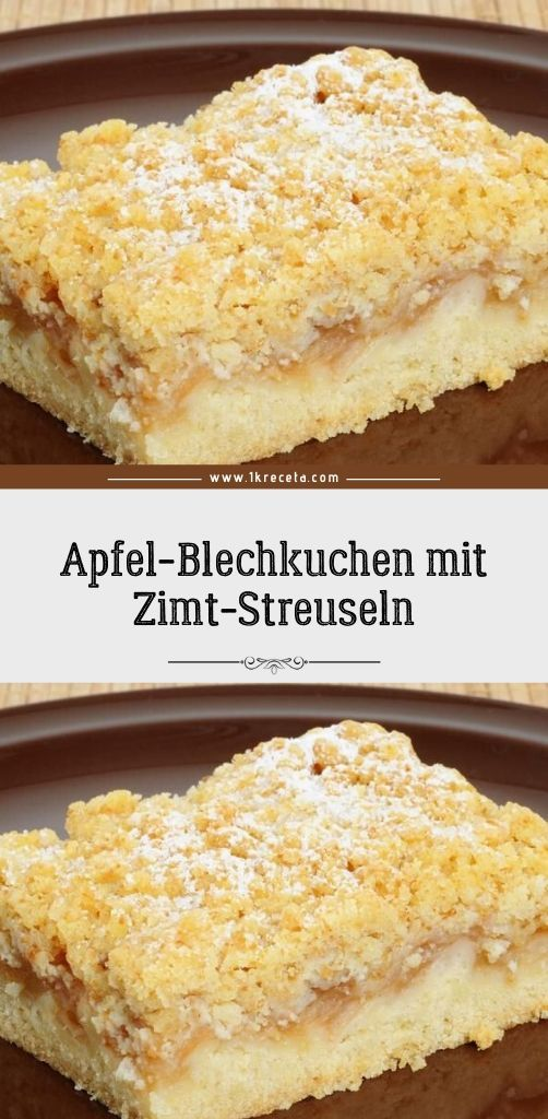 Apfel-Blechkuchen mit Zimt-Streuseln