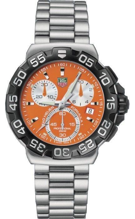 69f00e2432d Authentic Tag Heuer Formula 1 F1 Chronograph Mens Orange Watch  CAH1113.BA0850
