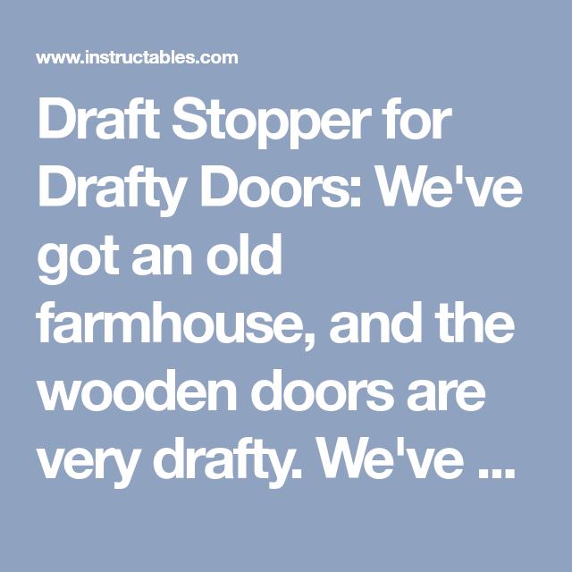 Photo of Draft Stopper for Drafty Doors
