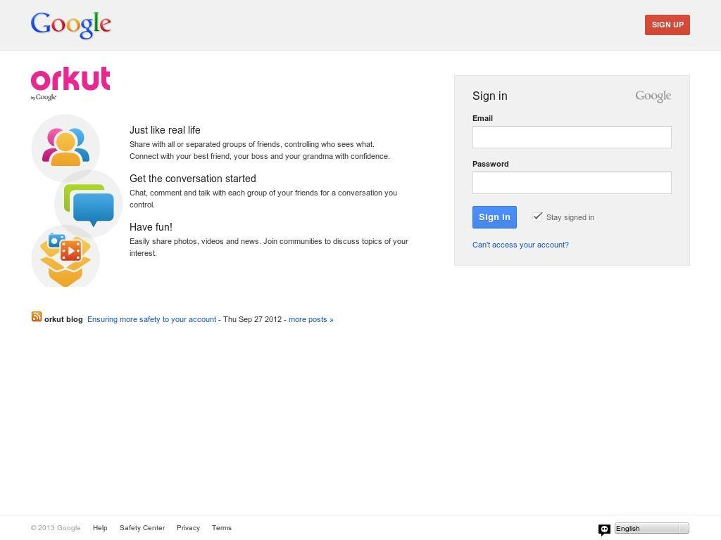 www.orkut.com.br Entrar Agora - Pergunte Tecnologia