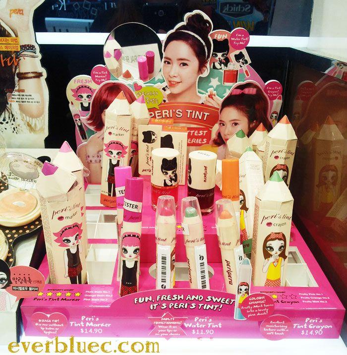 Everbluec Introducing Peripera Lip Tint Series Swatches Lip Tint Korean Cosmetics Tints